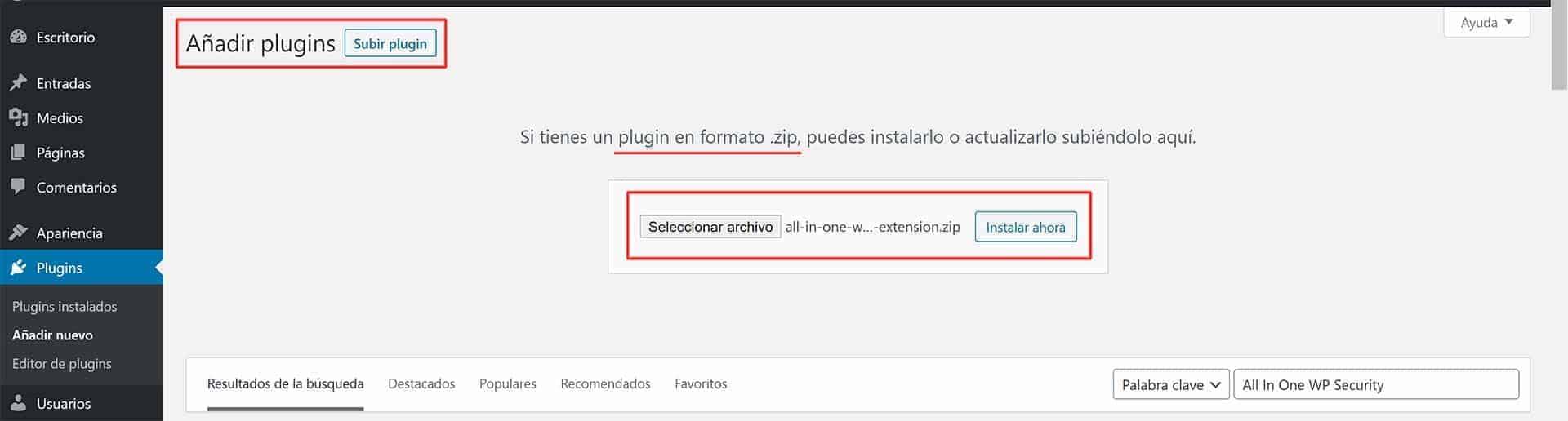 <mark>Aprende cómo instalar plugins en WordPress, en menos de 1 minuto</mark> 3