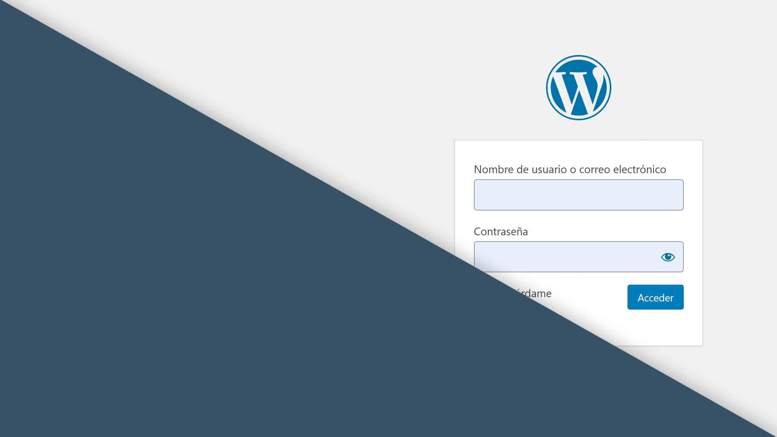 WordPress login - Acceder a WordPress