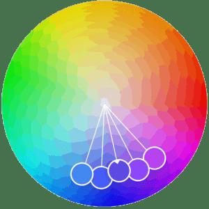 Gama de colores adyacentes.