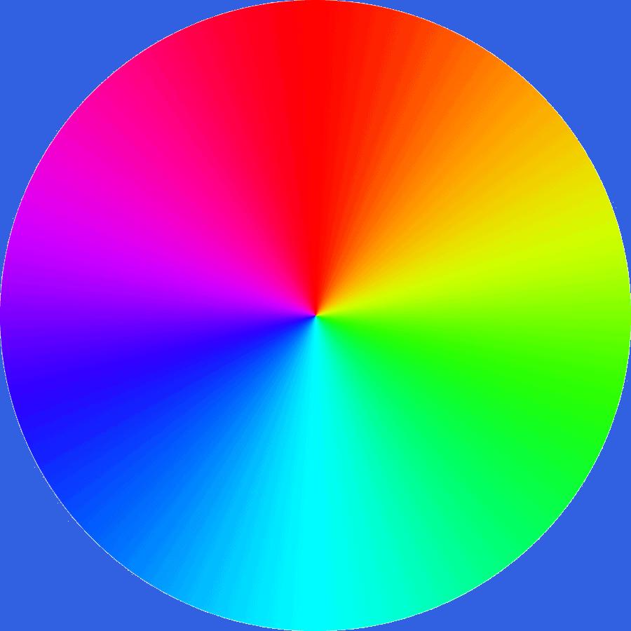 Rueda cromática utilizada para elaborar gamas de colores.