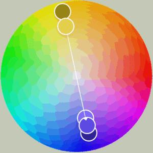 Gama de colores complementarios.