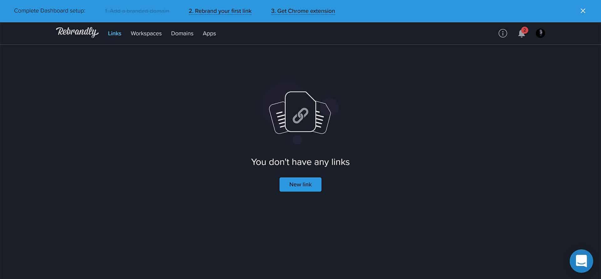 Rebrandly te permite acortar una URL con muchas opciones con una cuenta gratuita.