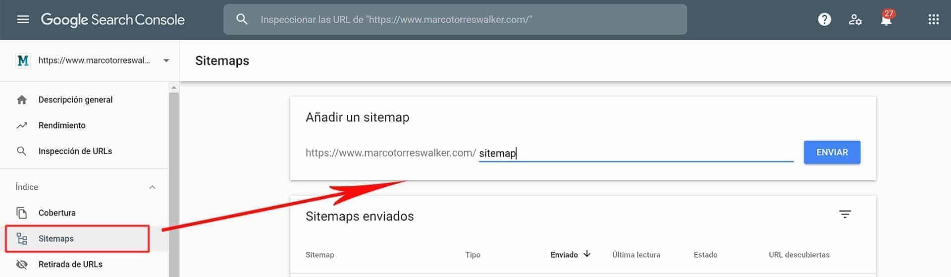 Qué es indexar. Mandar o actualizar sitemap.