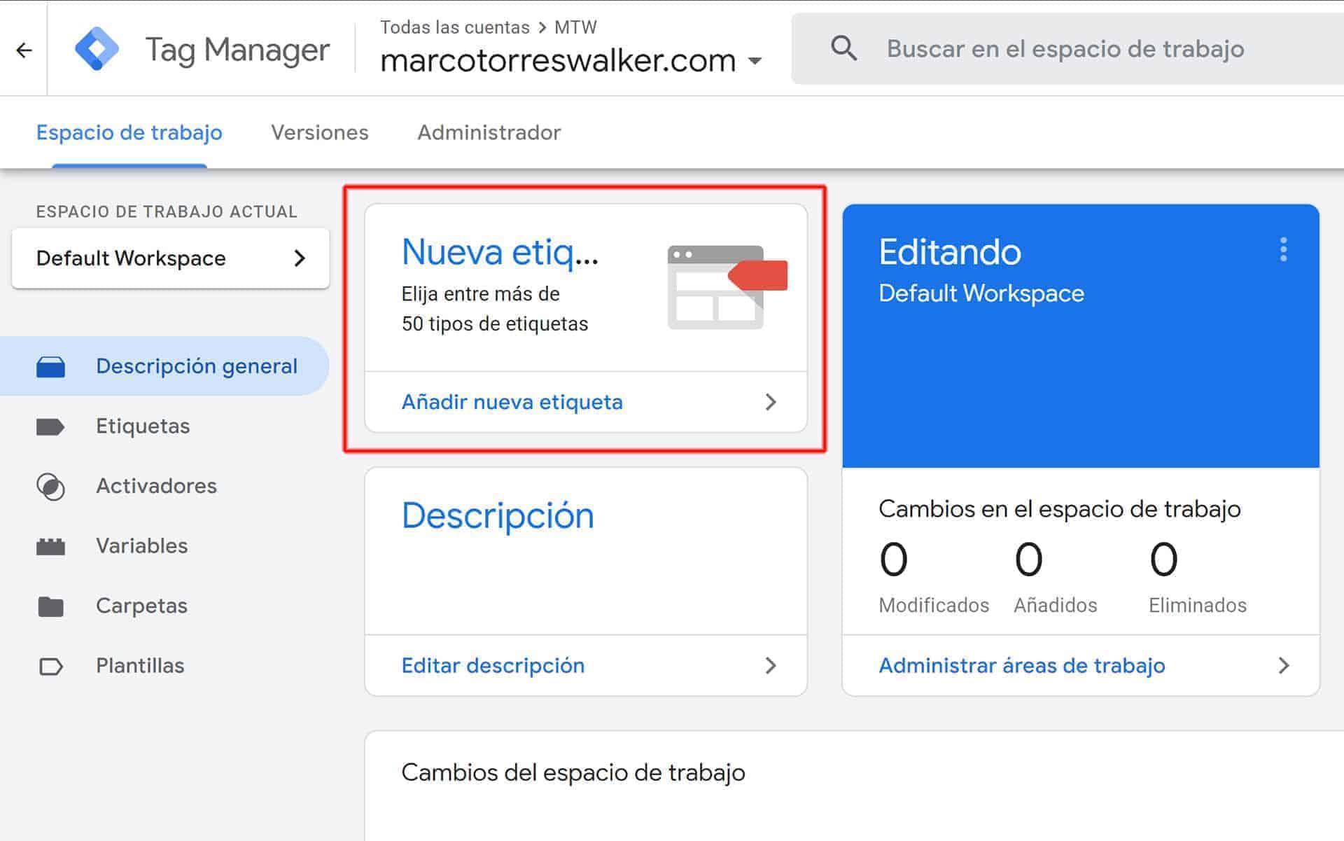 Crear una etiqueta para conectar Analytics, un ejemplo de para qué sirve Google Tag Manager.